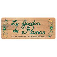 Restaurant Le Jardin de Panos logo Service Counter / Kitchen Staff Dishwasher Host / Hostess resto emploi restaurant