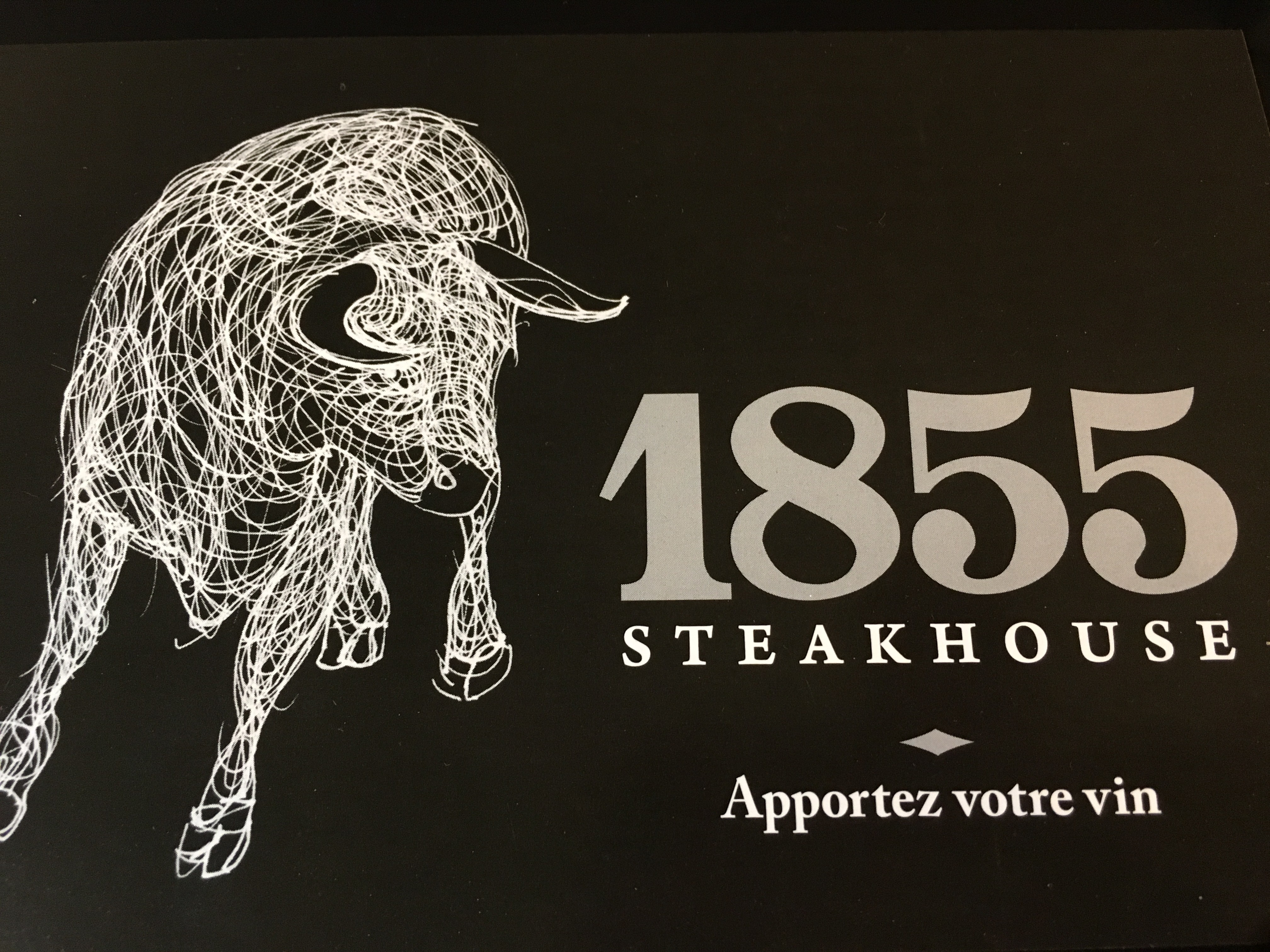 Le 1855 steakhouse logo Serveur / Serveuse resto emploi restaurant
