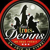 Aux trois devins logo Barman / Barmaid Serveur / Serveuse resto emploi restaurant